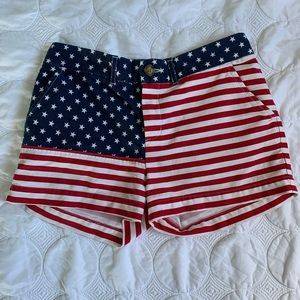 Miss mericas American flag shorts by Chubbies